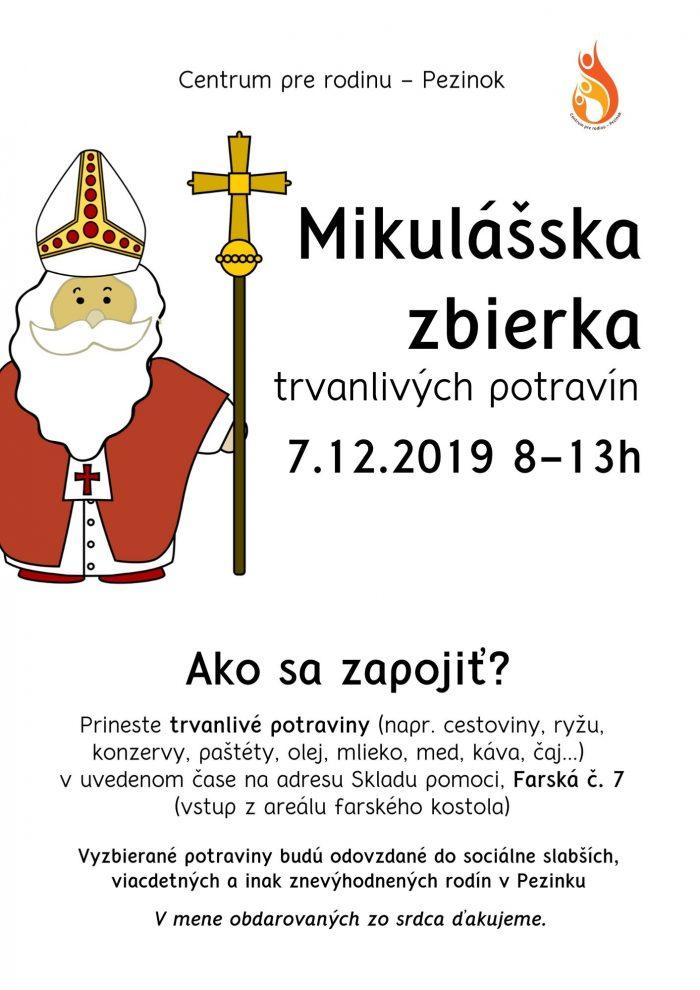 Mikulasska zbierka CPR 2019